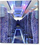 Inside Of New Bus  Canvas Print