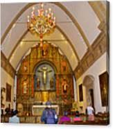 Inside Sanctuary At Carmel Mission-california  Canvas Print