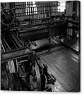 Inside Slater Mill Canvas Print