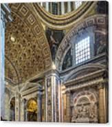 Inside St Peter's Basilica Rome Canvas Print