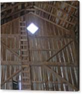 Inside The Barn Canvas Print