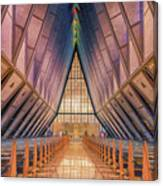 Inside The Cadet Chapel Canvas Print