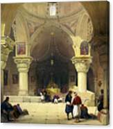 Inside The Church Of The Holy Sepulchre In Jerusalem Canvas Print