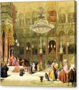 Inside The Church Of The Holy Sepulchre Canvas Print