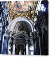 Inside The Church Santa Maria Della Salute In Venice Canvas Print