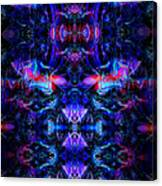 Inside The Electric Temple After Nightfall Canvas Print