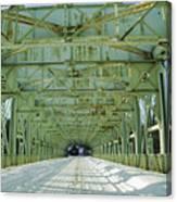 Inside The Falls Bridge - Winter Canvas Print