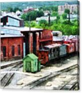 Inside The Train Yard Canvas Print
