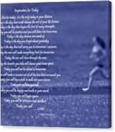 Inspiration For Today Runner  Canvas Print