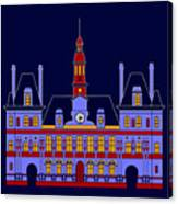 Inspired by the City Hall of Paris Canvas Print