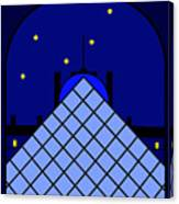 Inspired by the Louvre Pyramid Canvas Print
