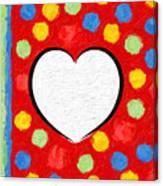 Insta Heart Canvas Print