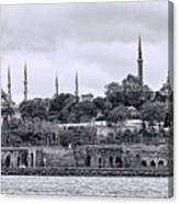 Instanbul In Black And White Canvas Print