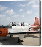 Instructor Pilot And Student In A T-34 Canvas Print