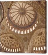 Inter Domes Of Sultan Ahmed Mosque Canvas Print