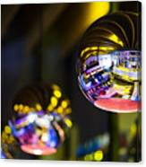Interior Design Detail In Modern Trendy Bar At Night Canvas Print
