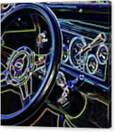 Interior Of A Classic Vintage Car Canvas Print