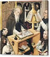 Interior Of A Scriptorium Canvas Print