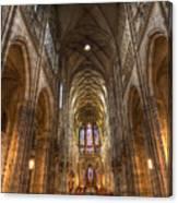 Interior Of Saint Vitus Cathedral Canvas Print