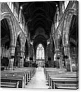 interior of st martins church Birmingham UK Canvas Print