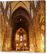 Interior Of Strasbourg Cathedral Canvas Print