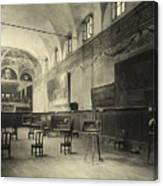 Interior Of The Dining Hall Of The Church Of Santa Maria Delle Grazie Milan Canvas Print