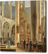 Interior Of The Franciscan Church Salzburg Canvas Print