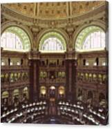 Interior Of The Library Of Congress Canvas Print