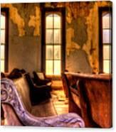 Interior Old Church Canvas Print
