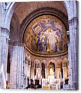 Interior Sacre Coeur Basilica Paris France Canvas Print