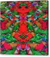 Interlocking Ghosts Red Canvas Print