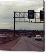 Interstate 70 West At Exit 8b, Interstate 435 North Exit, 1987 Canvas Print