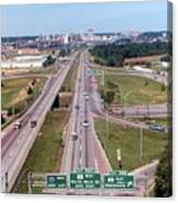 Interstate 74 West At Exit 95b, Route 116 East Exit, 1975  Canvas Print