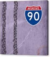 Interstate 90 Canvas Print