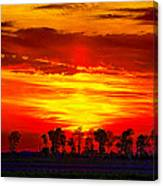 Interstate Sunset Canvas Print