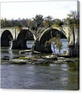 Interurban Bridge At Roche De Bout Canvas Print