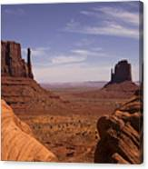 Into Monument Valley Canvas Print
