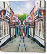 Into Steep Hill Canvas Print