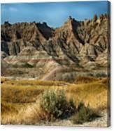 Into The Badlands South Dakota Canvas Print