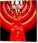 Into The Future Falcon 9 Canvas Print