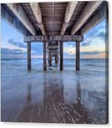 Into The Gulf At Orange Beach Canvas Print