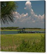 Intracoastal Water In Sullivan's Island South Carolina Canvas Print