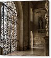 Intricate Ironwork - Lacy Wrought Iron Gates Canvas Print