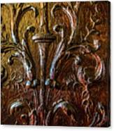 Intricate Wood Carving On Wall Panel At Swannonoa 4407vt Canvas Print