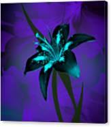 Inverse Lily Canvas Print