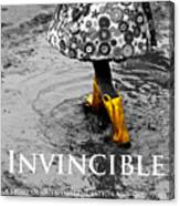 Invincible - A Story Of Guts - Determination - And Goloshes Canvas Print