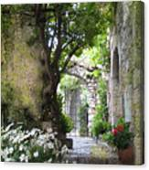 Inviting Courtyard Canvas Print
