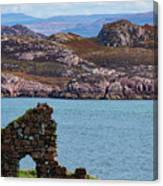 Iona Ruins And Mull Hills Canvas Print