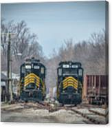 ioneer Lines PREX 912 and 806 at Evansville Indiana Canvas Print