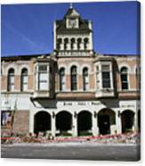 Watsonville I. O. O. F. Building Built In 1893  Damaged By The Loma Prieta Earthquake 1989 Canvas Print